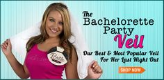 Ships international!!! The Bachelorette Party Veil - Great Bachelorette Party Supplies
