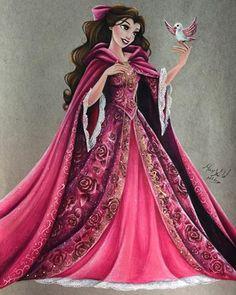 New dress princess disney belle ideas Disney Belle, Bella Disney, Walt Disney, Disney Dream, Disney Girls, Disney Love, Disney Stuff, Disney Princess Drawings, Disney Princess Art