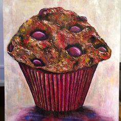 Polyfiller and acrylic. Art Work, Cupcake, Home Decor, Artwork, Work Of Art, Decoration Home, Room Decor, Cupcakes, Cupcake Cakes