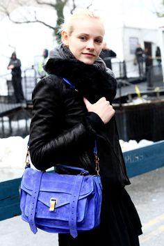 Ginta Lapina . Love the colour of the bag