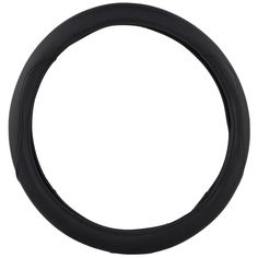 KM World Black 13.5-14.25 Inch PU Leather Steering Wheel Cover With Precise Hand Placements, Fits Lexus CT200
