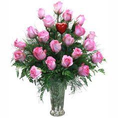 2 Doz Pink Rose Bouquet by Falcon Far...