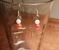 Hypoallergenic earrings with glass beads by IronEagleLeatheretc on Etsy
