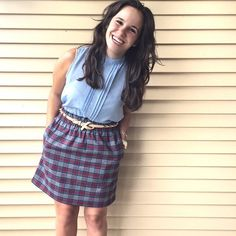 Plaid, denim, and a belt to wrap it all up. We love this combo, @court_robinsonn!
