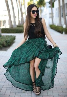 Stylish Ways to Wear a High Low Skirt