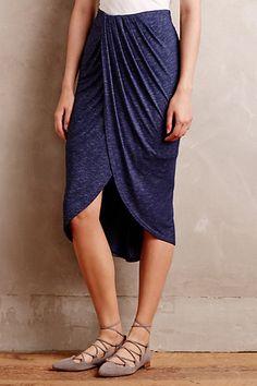 Maleo Draped Skirt #anthropologie