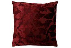 Foliage Motif 20x20 Pillow, Red on OneKingsLane.com
