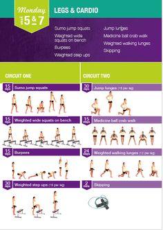 Kayla Itsines - Week 5 & 7 Monday Workout - New Ideas Kayla Workout, Kayla Itsines Workout, Monday Workout, Workout Schedule, Workout Guide, Week Workout, Street Workout, Workout Board, Workout Abs