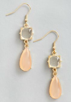 Droplets of Dew Earrings in Peach. pretty and so simple.