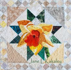 Quilt Pattern - Daffodil Applique Art Quilt Pattern - Immediate Download PDF