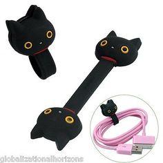 2x Handy Leather Headphone Earphone Cable Tie Cord Organizer Wrap Winder Holder