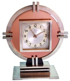 Art Deco Machine age clock, originating from France
