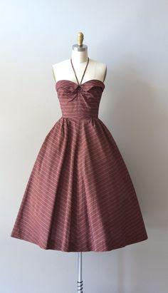 vintage 50s dress / 1950s halter dress / Ballerino by DearGolden, $288.00