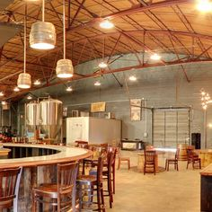 Awesome repurposed keg lights. Good People Brewing Company tap room. #beer #craftbeer #upcycle                                                                                                                                                      More