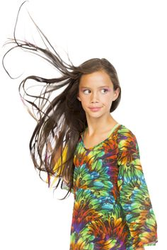 BRIGHT beautiful feather print kaftan for girls by Stella Cove beach wear: see matching kaftans, dresses, bikinis, rashguards and swimming trunks for girls and boys