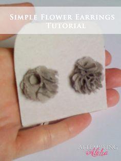 Simple flower earrings tutorial - easy peasy (inexpensive) gift!!