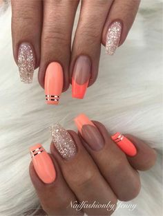 Pinterest photo - Coffin nails are fun to experiment with. Take a look at these 69 impressive designs you will definitely want to play around with. #Coffin #nails