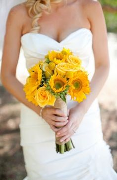 sunflower bouquet.. i think mine will be like this but with more colors