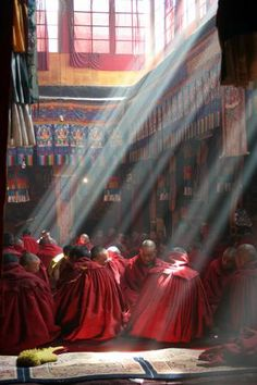 Lhasa Photos at Frommer's - Buddhist monks waiting in the Ganden Monastery in Lhasa, Tibet.