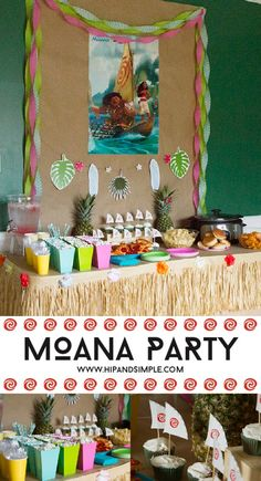 Moana Party Idea DIY