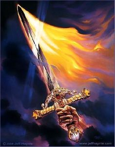 Fire..power in the Word of God, use your sword (the Word of God, the Bible) and slay those giants in your life..el
