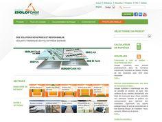 Isolofoam, création d'Axial.    #design Portfolio Website Design, Web Development, Thermal Insulation, Digital Marketing, Calculus, Environment