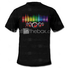 son et la musique activée el t-shirt de danseur Vu Visualizer spectre (2 * AAA) de 2016 ? $14.99