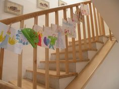 Every child is an artist (stair decoration)