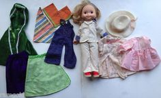 Vintage Fisher Price My Friend Mandy Doll and Clothing Lot 1970 70s - SOLD