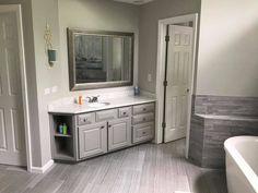 New Gray Bathroom Cabinets Diy Ideas Grey Bathroom Paint, Grey Bathroom Cabinets, Diy Bathroom Vanity, Small Bathroom Vanities, Brown Bathroom, Grey Cabinets, Grey Bathrooms, Bathroom Plans, Grey Paint