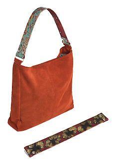 Katie Kalsi Suede Melissa Interchangeable Strap Shoulder Bag #belk #sds #handbags