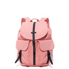 Herschel Supply Co. Dawson X-Small Backpack (€55) ❤ liked on Polyvore featuring bags, backpacks, strawberry grid, canvas backpack, day pack backpack, flap backpack, canvas flap backpack and canvas bags