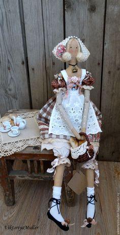 Купить Резерв кукла тильда ручной работы КРЕНДЕЛЁК))) - коричневый, розовый, кукла ручной работы