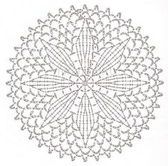 This Pin was discovered by สุนิ Motif Mandala Crochet, Free Crochet Doily Patterns, Crochet Symbols, Crochet Motifs, Crochet Circles, Freeform Crochet, Crochet Diagram, Crochet Round, Crochet Chart