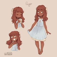 Instagram media by vasira96 - Salt and Pepper were so much fun I made another oc, Sugar✨ #ocs #drawing #art