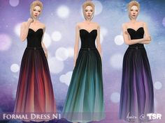 The Sims Resource: Formal Dress N1 by Aveira • Sims 4 Downloads