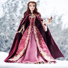 """DISNEY STORE EXCLUSIVE LE BEAUTY AND THE BEAST 17"""" WINTER BELLE DOLL CHRISTMAS #Disney #Dolls"""