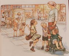 Shirley Hughes - from Dogger Shirley Hughes, Penny Black, Children's Book Illustration, Pictures To Draw, In This World, Childrens Books, Illustrators, Book Art, Childhood