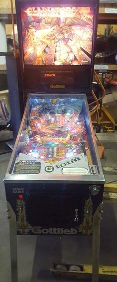 "www.M37Auction.com: ""Gladiators"" Pinball Machine, In Fantastic Condition! Plays Great!"