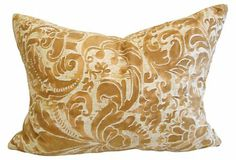 #Italian #luxury at its finest. 1930's vintage Mariano Fortuny Sevigne fabric pillow. #fortuny #luxury #love #pillow - Please contact us @ 818-763-9770 for more information. $496.00
