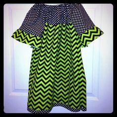 "Selling this ""5T Chevron and Polka Dot Peasant dress"" in my Poshmark closet! My username is: kadence_kloset. #shopmycloset #poshmark #fashion #shopping #style #forsale #Kid Boutique #Dresses & Skirts"