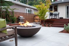Oriflamme Round Hammered Copper Fire Pit Table All