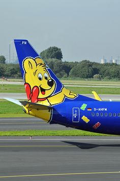 Imagine flying on an airplane with a gummy bear on it's tail? If you fly on Europe's TuiFly Airlines, you just might! #jorgenca