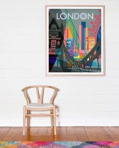 Limited edition city print by Australian Nicholas Girling.  This London print is perfect for the city dweller.  From Antipodream