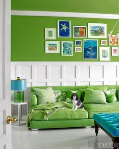 A colorful room inspired by green seaglass: http://www.completely-coastal.com/2014/08/colorful-beach-house-hamptons.html