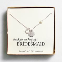 Personalized Open Heart Charm Necklaces. I love this bridesmaid necklace it's so cute I'm getting these for my bridesmaids.