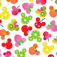 IN STOCK Disney Fabric: Disney Mickey Mouse, Mickey and Friends, Mickey Minnie Fruit on White cotton fabric by the yard Minnie Mouse Fabric, Mickey Minnie Mouse, Buy Fabric, Printing On Fabric, Cotton Fabric, Woven Fabric, Decoupage, Mickey Silhouette, Disney Fabric