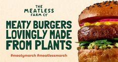 מיטלס פארם (Meatless Farm), מותג המוצרים הטבעוניים דמויי הבשר, יגיע בקרוב לישראל - כך מדווח העיתון גלובס. Hamburger, Ethnic Recipes, Food, Essen, Hamburgers, Yemek, Meals