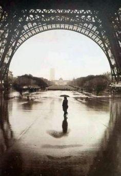 rain under an arch