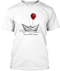 15d0e07f3 Red Balloon Horror Halloween T Shirt White T-Shirt Front Contact Sport, Red  Balloon